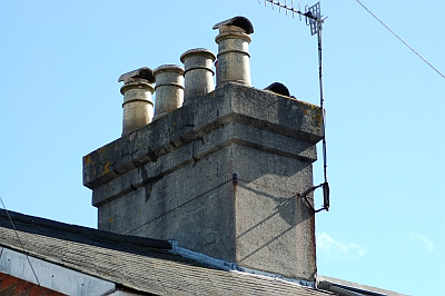 Seaford chimney pots taken by Gary the chimney sweep